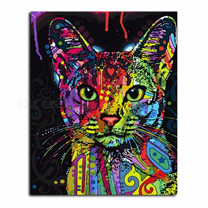 DRAWJOY Framed Picture Painting By Numbers, Wall Art DIY Oil Painting on Canvas for Living Room Home Decoration framed 40x50cm for sale in Bitcoin, Litecoin, Ethereum, Bitcoin Cash with the best price and Free Shipping on Gipsybee.com