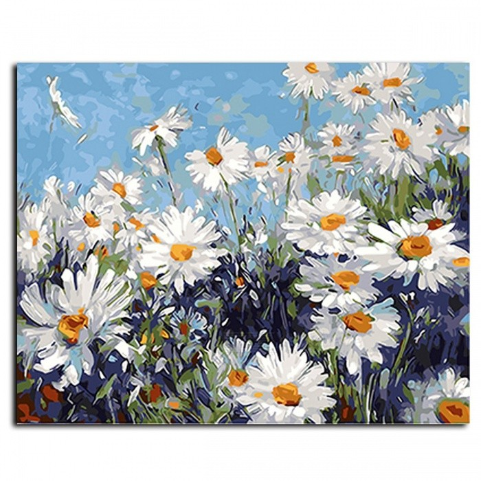 GX4227 Framed Flower DIY Painting By Numbers, Wall Art DIY Canvas Oil Painting for Living Room Home Decoration