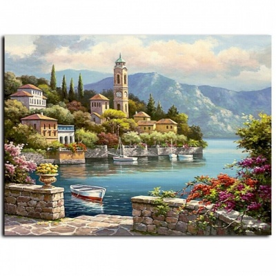 DRAWJOY Unique Picture Painting By Numbers, Wedding Decor DIY Canvas Oil Painting Wall Art for Living Room Home Decoration framed  40x50cm