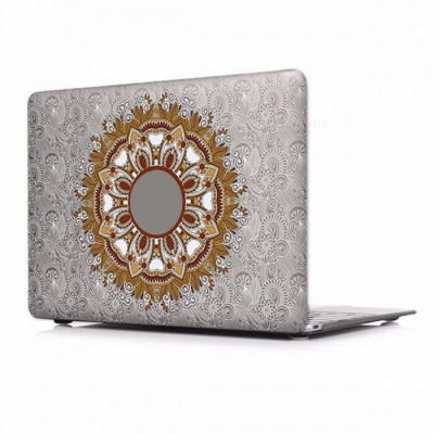 Unique Chic Printed Floral Paisley Pattern Laptop Case Cover with Touch Bar for Apple Mac Macbook Air Pro 13 A1502 A1425/P005