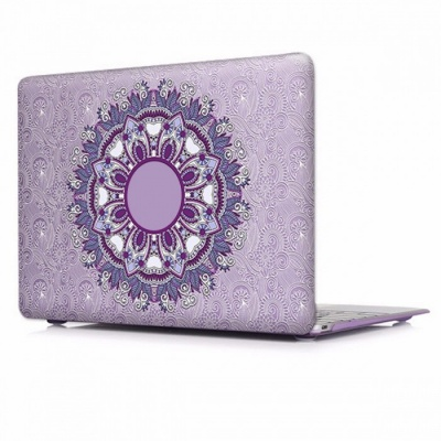Unique Chic Printed Floral Paisley Pattern Laptop Case Cover with Touch Bar for Apple Mac Macbook Air Pro 13 A1502 A1425/P001