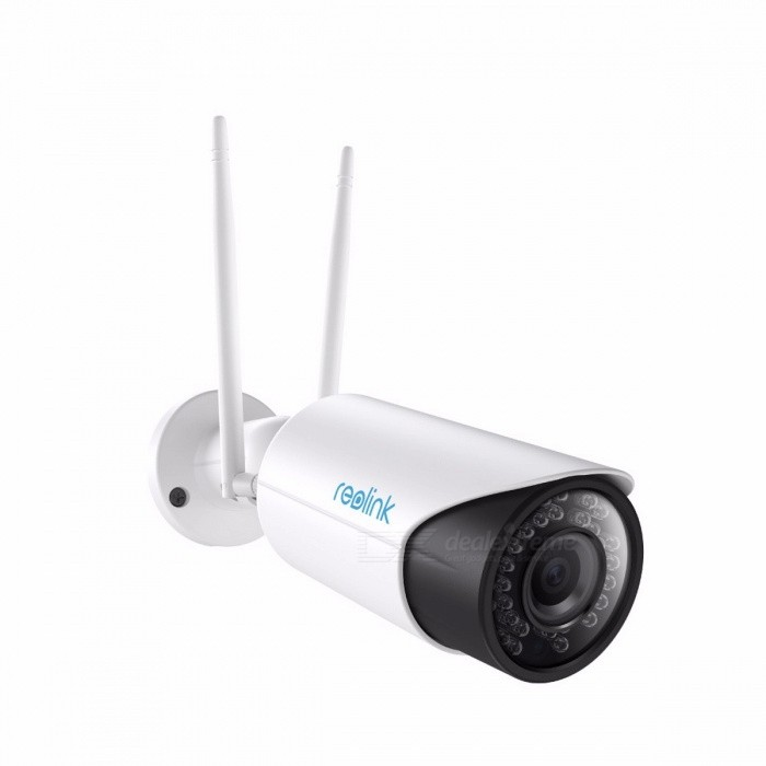 Reolink RLC-411WS-5MP 5.0MP Wi-Fi 2.4G/5G HD 4X Optical Zoom Bullet Security IP Camera w/ Built-in 16GB SD Card, Night VisionIP Cameras<br>ModelRLC-411WSForm  ColorWhiteMaterial?Quantity1 setImage SensorCMOSLensOthers,2.8-12mmViewing AngleOthers,100° at 2.8mm and 36° at 12mm °Audio Compression FormatNoNight VisionNoWireless / WiFiNoNetwork ProtocolIP,FTPSupported Systems7Supported BrowserFirefox,OperaSIM Card SlotNoOnline Visitor?Mobile Phone PlatformNo,Android,iOS,WindowsFree DDNSnoIR-CUTnoBuilt-in Memory / RAMNoMotorNoZoom,Water-proofNoPower AdapterAU PlugIntercom FunctionNoImage SensorCMOSPacking ListProduct<br>