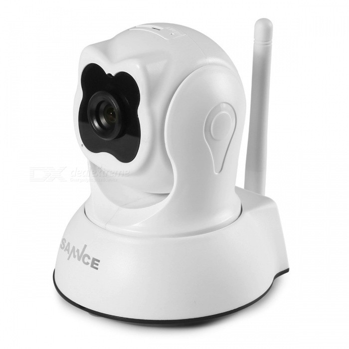 SANNCE 1.0MP 720P HD Pan &amp; Tilt P2P Wi-Fi Wireless Security IP Camera with Night Vision, Two-Way Audio US Plug/With 1m Power CableIP Cameras<br>Description<br><br><br><br><br>Brand Name: SANNCE<br><br><br>Type: IP Camera<br><br><br><br><br>Style: Box Camera<br><br><br>High Definition: None<br><br><br><br><br>Connectivity: IP/Network Wireless<br><br><br>Lens (mm): 3.6mm<br><br><br><br><br>Supported Operating Systems: Windows XP,Windows 10,Windows 7<br><br><br>Sensor: CMOS<br><br><br><br><br>Technology: Infrared<br><br><br>Sensor Brand: SONY<br><br><br><br><br>Supported Mobile Systems: Android,iOS<br><br><br>Alarm Action: Email Photo<br><br><br><br><br>Network Interface: Wi-Fi/802.11/b/g<br><br><br>Video Compression Format: H.264<br><br><br><br><br>is_customized: Yes<br><br><br>Color: White<br><br><br><br><br>Audio Output: Other<br>