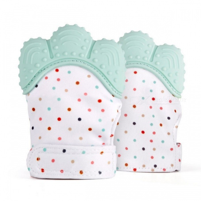 5 Colors Silicone Teether Baby Pacifier Glove Teething Chewable Newborn Nursing Teether Beads Infant BPA/Phthalate Free BluePersonal Care<br>Description<br><br><br><br><br>Function: Teether<br><br><br>Age Range: & 4 months<br><br><br><br><br>Shape: Palm<br><br><br>Material Feature: Nitrosamine Free,BPA Free,Phthalate Free,Latex Free,PVC Free<br><br><br><br><br>Packing: Single loaded<br><br><br>Material: Silicone<br><br><br><br><br><br><br><br><br><br><br><br>About the product: <br><br><br>HANDS ALWAYS IN TEETHING BABY'S MOUTH?<br><br><br>&amp;nbsp;<br><br><br>Give mom and dad the satisfaction of knowing they are doing the right <br>thing by using this gloves teether &amp;nbsp;to keep teething baby safe from <br>scratching themselves, saliva irritating their skin, and lessen the <br>chance of developing blisters from thumb sucking.<br><br><br>&amp;nbsp;<br><br><br>BABY ENTERTAINS SELF WITH A SENSORY STIMULATING TOY.<br><br><br>&amp;nbsp;<br><br><br>The crinkle sound, pain relieving texture, and contrasting colors will<br> stimulate learning to help your baby reach their developmental <br>milestones sooner. Because baby entertains themselves mom has time to <br>finish a meal, call a friend, or even take a shower.<br><br><br>&amp;nbsp;<br><br><br>HELPS FUSSY, CRYING BABIES BY REDUCING PAIN FROM TEETHING.<br><br><br>&amp;nbsp;<br><br><br>This chemical free, baby safe, all natural convenient approach to pain<br> relief caused by teething will transform a fussy baby to a smiling baby<br> in no time and make parents feel good that they are helping their baby <br>feel better.<br><br><br>&amp;nbsp;<br><br><br>CONSTANTLY PICKING TOYS UP OFF THE GROUND AND CHANGING DROOL SOAKED CLOTHES?<br><br><br>&amp;nbsp;<br><br><br>The gloves teether comes with an adjustable Velcro strap to prevent <br>baby from dropping it on the ground and soft breathable fabric that <br>absorbs drool so you spend less money and time doing laundry. Moms love <br>that the mitts are machine washable, super