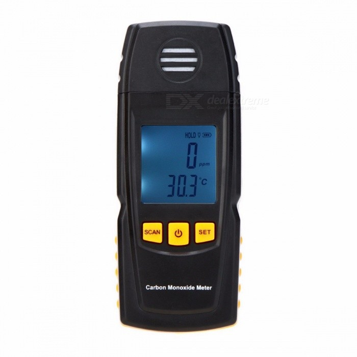 GM8805 Handheld Portable Carbon Monoxide Meter High Precision CO Gas Detector Analyzer Measuring Range 0-1000ppm black