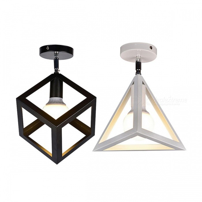 Buy Retro Vintage Loft Single Style Ceiling Light Corridor Entrance Balcony Room Ceiling Lamp Indoor Lighting Fixture Square Lamp White No Bulb with Litecoins with Free Shipping on Gipsybee.com