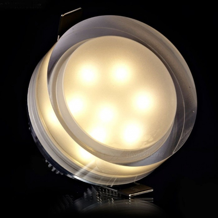 LED Crystal Downlight Square Round LED Ceiling Spot Light 1W 3W 5W 7W LED Recessed Lamp Kitchen Lighting for Home Decoration 7W Square/Warm White