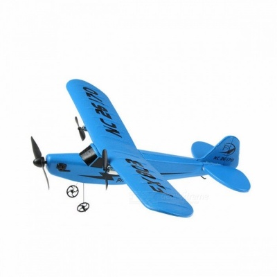 New HL803 EPP 2CH RC Radio Control Plane, Glider Airplane Model UAV Hobby Ready-to-Fly RC Toy for Kids Yellow
