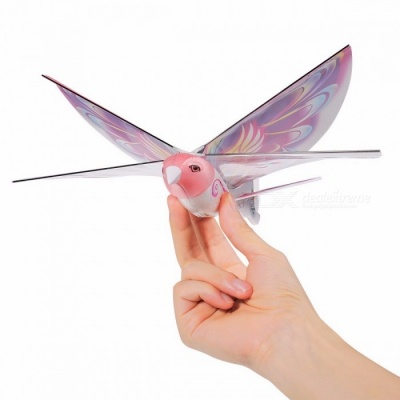 GOOLRC Remote Control Bird Style RC Toys 2.4GHz Simulation E-Bird Butterfly Flying Control Bird Toy for Kids Pink