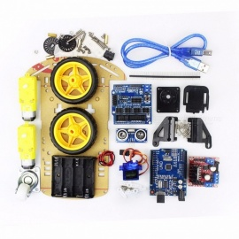 Electronic-Motor-Smart-Robot-Car-Chassis-Kit-Speed-Encoder-Battery-Box-2WD-Ultrasonic-Module-for-Arduino-DIY-Kit-corlorful