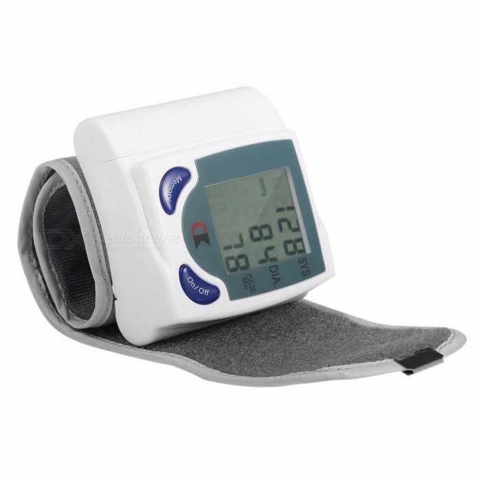 Mini Home Automatic Wrist Digital LCD Blood Pressure Monitor, Portable Tonometer Blood Pressure Meter Oximeter WhiteBlood Pressure Meters<br>Description<br><br><br><br><br>Item Type: Blood Pressure<br><br><br>Brand Name: U-Kiss<br><br><br><br><br>Commodity Quality Certification: 3C<br><br><br>Application: Wrist<br><br><br><br><br><br><br><br><br><br><br><br>Know Your Blood Pressure. Shows Systolic, Diastolic and Pulse Readings.<br><br><br>Compact design fits over your wrist like a watch. <br><br><br>&amp;nbsp;<br><br><br>Features: <br><br><br>Digital LCD Wrist Blood Pressure Monitor With Heart Beat Rate Pulse Meter Measure <br><br><br>Intelligent automatic compression and decompression <br><br><br>measure systolic, diastolic and pulse at the same time <br><br><br>Easy to operate, switching button to start measuring <br><br><br>Test Scope : <br><br><br>Pressure: 0-299mmHg <br><br><br>Heart Beat: 40-200/minute <br><br><br>Test Accuracy:Pressure +/-3mmHg Heart Beat +/-3% <br><br><br>60 store groups memory measurements <br><br><br>3 minutes automatic power saving device <br><br><br>Intelligent device debugging, automatic power to detect <br><br><br>Local tests for: wrist circumference as 135-1 95mm <br><br><br>Large-scale digital liquid crystal display screen <br><br><br>High-accuracy <br><br><br>Typical Blood Pressure monitors are big, bulky, and nearly impossible to use <br><br><br>without assistance. Just use the straps to easily secure Monitor to <br><br><br>your wrist and push the blue button. In less than one minute you'll have <br><br><br>systolic blood pressure, diastolic blood pressure and your pulse rate. The <br><br><br>display is large and easy to read. <br><br><br>&amp;nbsp;<br><br><br>Specification: <br><br><br>Display: Digital LCD <br><br><br>Systolic &amp;amp; Diastolic Pressure <br><br><br>Large, Easy to Read Display <br><br><br>Power Supply: DC 3V AAA battery x 2 (NOT included) <br><br><br>Product Size :70 x 72 x 23mm <br><br><br>Package Size :90 x 85 x 50mm <br><br><br>Humidity and Temperature for Use: Humidity <br><br><br>30%--80%RH Temperature 5Celsius-40 Celsius <br><br><br>Sevice Life: About 10000 Times <br><br><br>Original box: NO <br><br><br>Net weight: 85g <br><br><br>Package weight: 119g <br><br><br>Color: White <br><br><br>&amp;nbsp;<br><br><br>Packing content: <br><br><br>1 x Digital Wrist Blood Pressure Meter<br>