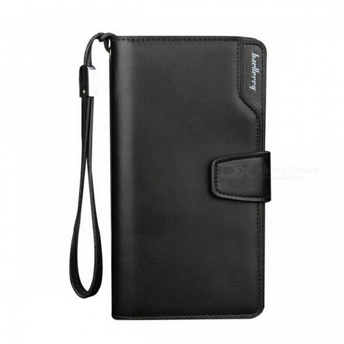 Stylish-Luxury-Brand-New-Long-Style-PU-Leather-Wallet-Coin-Cards-Holder-Zippered-Business-Wallet-for-Men-Coffee