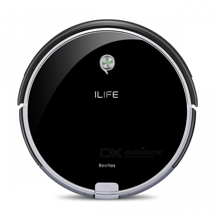 ILIFE A6 Robotic Vacuum Cleaner Smart Stylish Cleaner with LED Breathing Indicator Light for Home Cleaning - USFunction:Certification:ColorBlackPower AdapterUSPacking ListProduct<br>