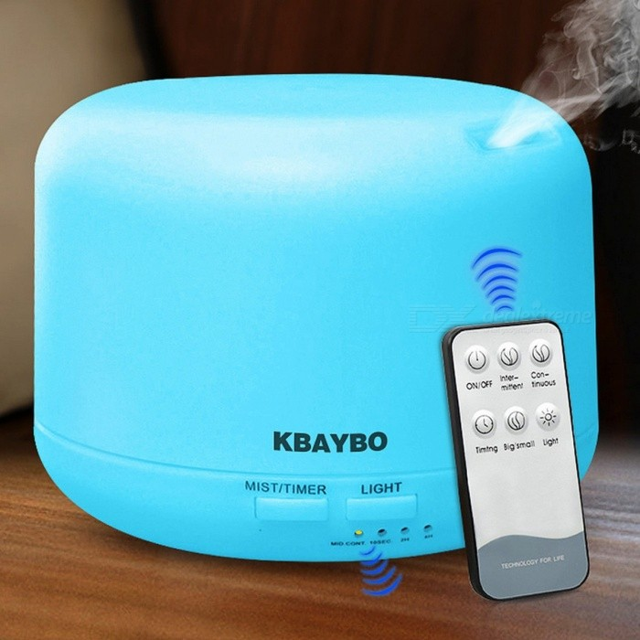 300ML Remote Control Ultrasonic Air Aroma Humidifier With 7 Color Lights Electric Aromatherapy Essential Oil Aroma Diffuser USDescription<br><br><br><br><br>Application: 21-30? <br><br><br>Certification: CE,CB,CSA,GS,EMC,EMF,RoHS,LFGB <br><br><br><br><br>Humidification Method: Mist Discharge <br><br><br>Humidity Control: Manual <br><br><br><br><br>Type: Ultrasonic Humidifier <br><br><br>Noise: &amp;lt;36db <br><br><br><br><br>Time to market: Aug-15 <br><br><br>Timing Function: Yes <br><br><br><br><br>Humidifying Capacity: ?380ml/h <br><br><br>Shape: Classic Columnar <br><br><br><br><br>Power Type: A.C. Source <br><br><br>Classification: Humidification <br><br><br><br><br>Installation: Tabletop / Portable <br><br><br>Water-shortage Power-off Protection: Yes <br><br><br><br><br>Brand Name: KBAYBO <br><br><br>Use: Household <br><br><br><br><br>Function: Aromatherapy <br><br><br>Mist Outlet Quantity: One <br><br><br><br><br>Operation Method: Remote Control <br><br><br>Voltage (V): Other <br><br><br><br><br>Capacity: Other <br><br><br>Power (W): Other <br><br><br><br><br><br><br>  Keeping your living space moist help prevent colds/flu and congestion. It also can prevent dry and cracked skin.   <br><br><br><br><br><br> Specifications: <br><br> •Input voltage:AC100-240V &amp;nbsp;50/60Hz <br><br> •Out voltage:DC24V 500mA <br><br> •Power:10w <br><br> •Aerosolized amount:&amp;nbsp;35ml/h <br><br> •Ultrassonic frequency:2.4 MHz <br><br> •Size:133*133*100mm <br><br> •Volume:300ml <br><br><br><br> Function: <br><br> Humidify: humidifies the air in the room regardless summer or winter, refresh the air quality we breathe, adjust the room temperature. <br><br> Beauty: used as skin care, keeps skin healthy and moist. <br><br> Purify: neutralizes static, reduce infection of skin, air cleaner <br><br> relaxation: aromatherapy, relieve strain and ease stress <br><br> Decoration: warms atmosphere in the room by adding perfume or essential oil in the atomizer tank <br><br><br><br> Features:  <br><br> - 4 working modes: 1 hour / 3 hours / 6 hours / steady on. <br><br> -7 warm colors: each color is adjustable between bright and dim with button switch. It is a perfect nightlight for a kids bedroom. <br><br> - Sized well with adjustable mist output <br><br> Essential oil diffuser holds up to 300ml of water, enough for large space use. You can switch between high and low mist with the button to extend the duration of misting. Diffuser automatically powers off when water level is too low for safe use. <br><br> -This diffuser adopts ultrasonic technology that provides whisper smooth mist and pleasant aromas to create calm, relaxing environment, soften and moisten dry and chapped skin and helps you breathe better in winter. <br><br><br>Notice:  <br><br> -Please add water below the Max line. <br><br> -Dont using purified water, because purified water might not mist. <br><br> -Please clean it once a week, and clean the&amp;nbsp; atomizer plate with medical alcohol. <br><br> -Oil is not included in the package. <br><br> -Close the cover well before start mist.<br>