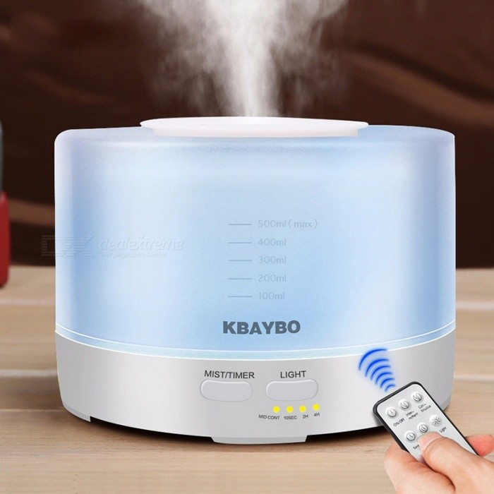 Remote Control 500ml Ultrasonic Air Aroma Humidifier With 7 Color LED Lights, Electric Aromatherapy Essential Oil Aroma Diffuser