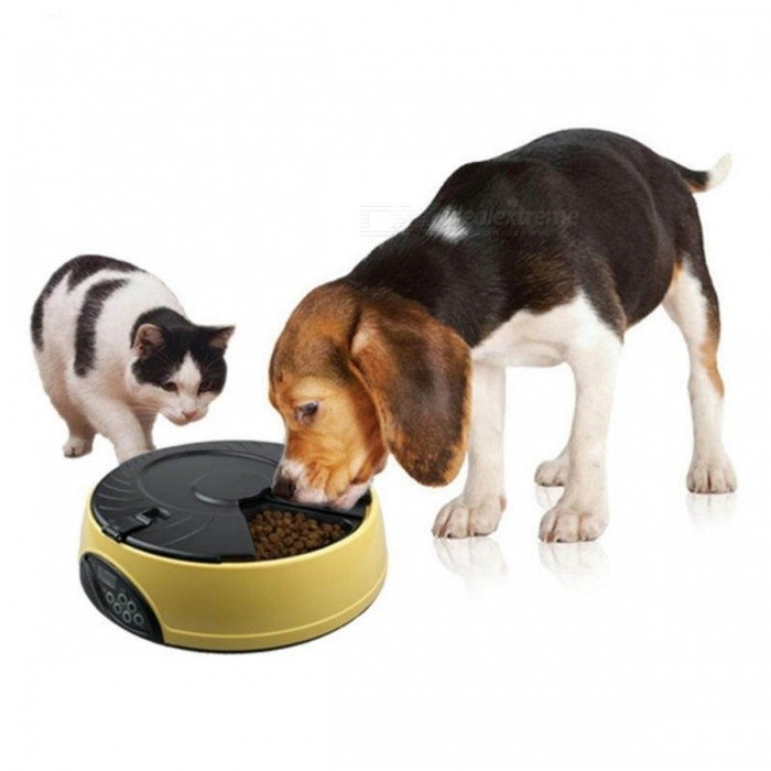 Ortilerri-6-Meals-Smart-Automatic-Pet-Feeder-w-LCD-Display-Dog-Cat-Food-Reminder-Dispenser-Timed-Recorder-Bowl-MPink