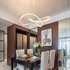 LED Modern Chandelier for Kitchen Dining Room Living Room Suspension Luminaire Hanging White Black Bedroom Chandeliers Fixtures Warm White/700mm White