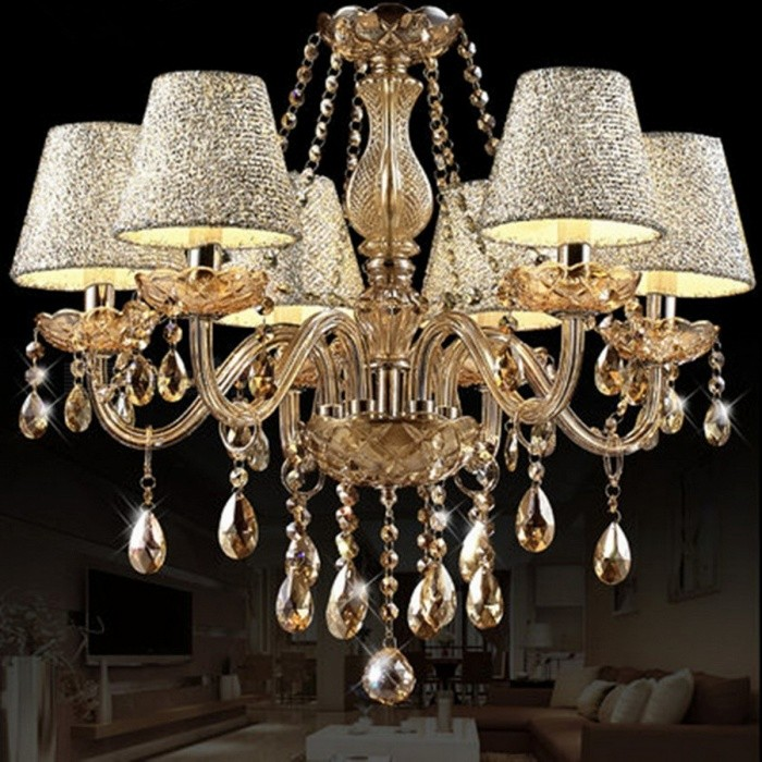 Hot Lustre Luxurious Shining European Style Chandelier, Ceiling Pendant Lamp w/ Arms Design, Diameter 58cm for Living Room