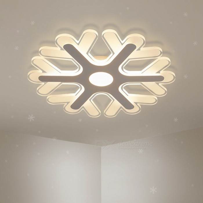 Ultra-thin Acrylic Snowflake Shape LED Chandelier Light, Modern LED Ceiling Pendent Lamp for Study Room, Kids Bedroom D42cm 36W/Warm White/WhiteChandelier<br>Description<br><br><br><br><br>Item Type: Chandeliers<br><br><br>Style: Modern<br><br><br><br><br>Finish: Iron<br><br><br>Voltage: 220V,90-260V,110V<br><br><br><br><br>Shade Direction: Down<br><br><br>Certification: CE,FCC,RoHS,EMC,CCC<br><br><br><br><br>Brand Name: DAR<br><br><br>Power Source: AC<br><br><br><br><br>Body Material: Iron<br><br><br>Shade Type: Shadeless<br><br><br><br><br>Light Source: LED Bulbs<br><br><br>Base Type: Wedge<br><br><br><br><br>Is Dimmable: No<br><br><br>Is Bulbs Included: Yes<br><br><br><br><br>Installation Type: Semiflush Mount<br><br><br>Switch Type: Knob switch<br><br><br><br><br><br><br><br><br>Switch Type: Knob switch <br><br><br>Watts: 8W/36W/48W <br><br><br>Dimension Optionn: D20cm/D42cm/D52cm <br><br><br>Light Color: Cool white/Warm white//RC Dimmable <br><br><br>Application: Kids room,Bedroom,Dining room,Study <br><br><br>Ships From: Shenzhen,China <br><br><br>Item Name: Super-thin Acrylic Ceiling Chandelier<br>