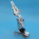 Portable 1 Set Silver 3 Dof Mechanical Arm Clamp Claw Mount Kit for Remote Control RC Smart Robot DIY Without Servos