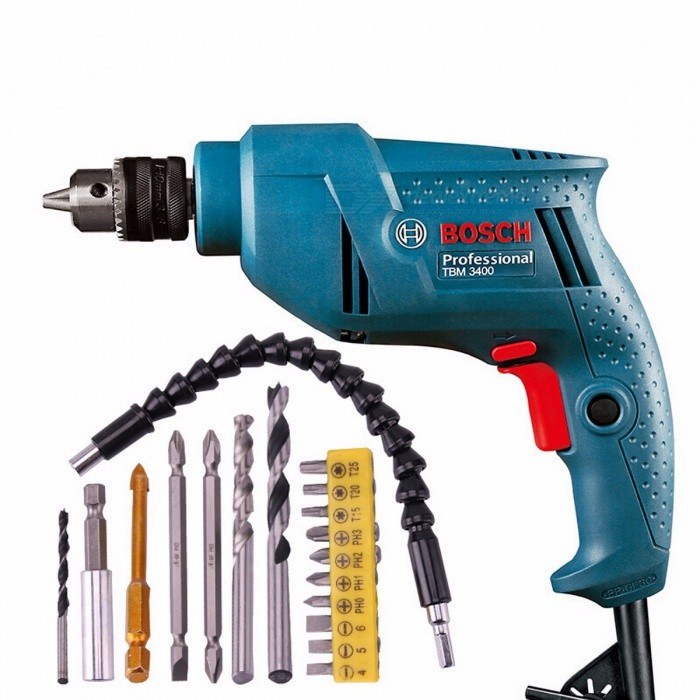 Original-BOSCH-TBM-3400-Classical-DIY-Electric-220V-Power-Driver-Drill-Bits-Tool-for-Woodworking-Steel-Hole-Drill-green