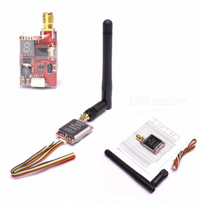 ReadytoSky TS5828 / TS5828L Micro 5.8GHz 600mW 48 Channels Mini FPV Transmitter with Antenna, Digital Display TS5828Description<br><br><br><br><br>Use: Vehicles &amp;amp; Remote Control Toys<br><br><br>Upgrade Parts/Accessories: Arm<br><br><br><br><br>Material: Composite Material<br><br><br>Remote Control Peripherals/Devices: ESC<br><br><br><br><br>Brand Name: Readytosky<br><br><br>Tool Supplies: Grinded<br><br><br><br><br>For Vehicle Type: Airplanes<br><br><br>RC Parts &amp;amp; Accs: Motor Components<br><br><br><br><br>Four-wheel Drive Attributes: Slot<br><br><br>Technical parameters: Value 3<br><br><br><br><br><br><br><br><br><br><br><br>Item Name: FPV Transmitter <br><br><br>Channel: 48CH <br><br><br>Frequency: 5.6G-5.9G <br><br><br>Current: 190mA/12V <br><br><br>Temp.: -10-85C <br><br><br>Video Bandwidth: 8M <br><br><br>Audio Bandwidth: 6.5M <br><br><br>Antenna: RP-SMA <br><br><br>Size: 38x18x8mm <br><br><br><br>Weight: 16g<br>