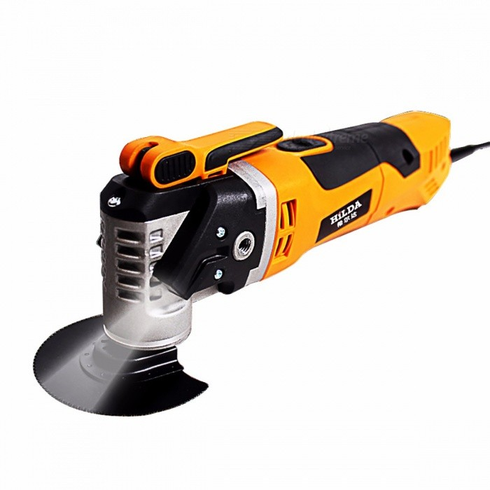 HILDA-Multi-Function-Electric-Saw-Renovator-Tool-Home-Renovation-Oscillating-Trimmer-Woodworking-Tool-YELLOW