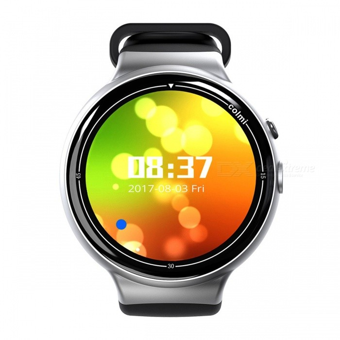 Colmi i2 Smartwatch Android 5.1 OS 2MP WIFI 3G GPS Heart Rate Monitor Bluetooth 4.0 MTK6580 Quad Core 2GB + 16GB Smart Watch BlackSmart Watches<br>Description<br><br><br><br><br>Function: Permanent Calendar,Chronograph,Answer Call,Week,Remote Control,GMT Two Places,Month,Message Reminder,Heart Rate Tracker,Calendar,Dial Call,Alarm Clock,Push Message,Passometer,24 hour instruction,World Time,Fitness Tracker,Other<br><br><br>APP Download Available: Yes<br><br><br><br><br>Band Detachable: No<br><br><br>Language: French,Japanese,Italian,Russian,Hebrew,Turkish,German,Spanish,Polish,Portuguese,English,Korean,Other<br><br><br><br><br>Battery Capacity: 300-450mAh<br><br><br>Style: Fashion<br><br><br><br><br>Band Material: Rubber<br><br><br>Mechanism: Yes<br><br><br><br><br>Multiple Dials: Yes<br><br><br>Application Age Group: Adult<br><br><br><br><br>Waterproof Grade: Life Waterproof<br><br><br>Compatibility: All Compatible<br><br><br><br><br>Type: On Wrist<br><br><br>ROM: 16GB<br><br><br><br><br>Battery Detachable: No<br><br><br>RAM: 2GB<br><br><br><br><br>CPU Manufacturer: Mediatek<br><br><br>Brand Name: ColMi<br><br><br><br><br>Movement Type: Electronic<br><br><br>Screen Shape: Round<br><br><br><br><br>Case Material: Alloy<br><br><br>SIM Card Available: Yes<br><br><br><br><br>System: Android OS<br><br><br>Network Mode: 3G<br><br><br><br><br>GPS: Yes<br><br><br>Camera: 2MP<br>
