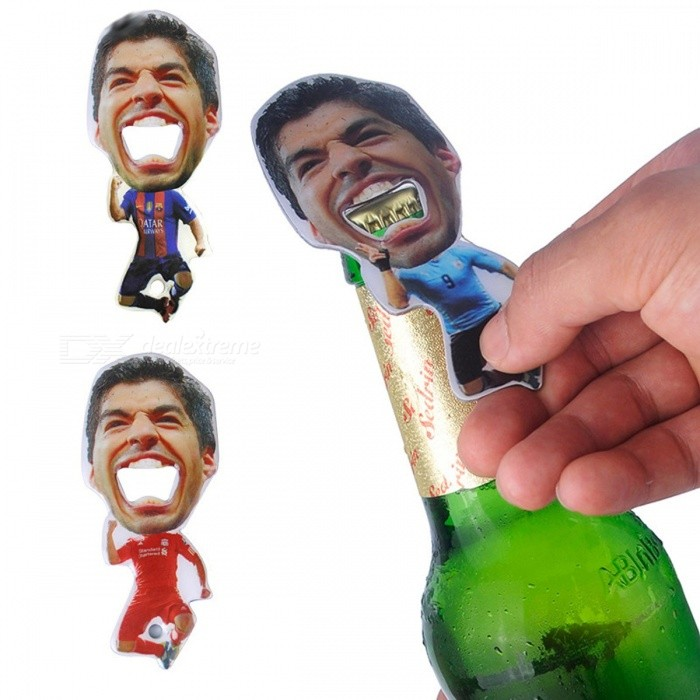 Creative Luis Suarez Style Portable Football Team Beer Bottle Opener Zinc Alloy Glass Bottle Cap Opener Bar Kitchen Tool 3 Color RedOpener &amp; Stopper<br>Description<br><br><br><br><br>Type: Openers<br><br><br>Metal Type: Stainless Steel<br><br><br><br><br>Openers Type: Beer<br><br><br>Feature: Eco-Friendly<br><br><br><br><br>Brand Name: Vilead<br><br><br><br><br><br><br><br><br><br>Model Number: Beer Opener <br><br><br>Place of Origin: China <br><br><br>Processing customization: yes <br><br><br> <br><br><br>Suitable for : Festivals, all places, fairs, advertising promotions, employee benefit<br><br><br><br><br>Material:Stainless Steel<br><br><br>Use for: Beer Opener, Creative Gift<br><br><br>Size:115*49.15mm<br>