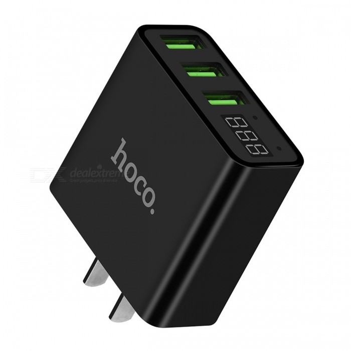 HOCO 5V 3A 2 Ports 3 Ports USB Wall Fast Charge Charger US EU Plug Power LED Display Adapter For IPHONE Samsung Mobile Phone 2 Ports EU Plug/WhiteAC Chargers<br>Description<br><br><br><br><br>Compatible Brand: SONY,LG,Meizu,Blackberry,Nokia,HTC,Lenovo,Samsung,Motorola,ZTE,Universal,xiaomi,Huawei,Apple,Other<br><br><br>Type: Travel<br><br><br><br><br>Input: 100-240V/0.2A<br><br><br>Brand Name: HOCO<br><br><br><br><br>Output Interface: USB<br><br><br>Quality Certification: FCC,CE,RoHS<br><br><br><br><br>USB Ports: 3<br><br><br>Output: 5V/3A<br><br><br><br><br>Power Source: A.C. Source<br><br><br>Support Quick Charge Technology: No<br><br><br><br><br><br><br><br><br><br><br><br>1. Material: ABS+PC flame retardant material. <br><br><br>2. Size: 66*50*23mm. <br><br><br>3. Weight: 59g. <br><br><br>4. Output: Total output: 3A, maximum output of single port: 2.4A, intelligent balance. <br><br><br>5. Overcurrent and overvoltage protections for the circuit. <br><br><br>6. Blue charging indicator light. <br><br><br>8. LED digital display output voltage and current in real time. <br><br><br>&amp;nbsp;<br><br><br>1. Input: AC 100-240V 50 / 60Hz 300mA <br><br><br>2. Output: USB total output: DC 5.0V / 2.2A Max <br><br><br>&amp;nbsp; &amp;nbsp; &amp;nbsp;USB1: 5V / 2.2A Max USB2: 5V / 2.2A Max <br><br><br>3 GB national CCC certification plug <br><br><br>4.<br> Flame retardant grade PC material, durable, the product uses LED screen<br> design, real-time view of the output voltage / current, the appearance <br>of simple, easy to carry <br><br><br>5. Multiple circuit protection<br>