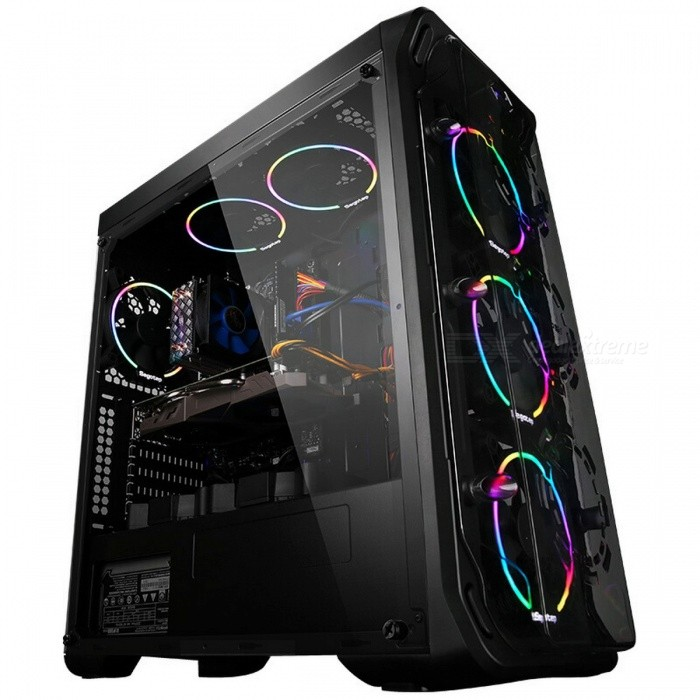Buy GETWORTH R31 Liquid Cooling Computer Desktop Intel I7 7700K 8G RAM GTX1060 WD 240G SSD Win10 Home 6 LED Fans Water Cooling PC Win10 Home English with Litecoins with Free Shipping on Gipsybee.com