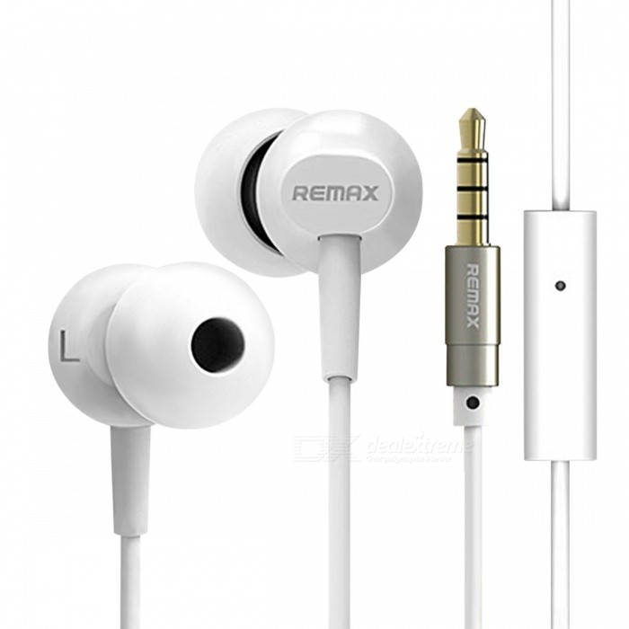 REMAX BASE-DRIVEN HIFI Bass Noise Reduction 3.5mm Wired Earphone, Stereo Sound Comfortable Earbuds with HD MIC for Phone / MP3 WhiteHeadphones<br>Description<br><br><br><br><br>Function: For Mobile Phone,Common Headphone,HiFi Headphone,For iPod<br><br><br>Connectors: 3.5mm<br><br><br><br><br>Support Apt-x: No<br><br><br>Brand Name: Remax<br><br><br><br><br>Support Memory Card: No<br><br><br>Line Length: 1.2m<br><br><br><br><br>Vocalism Principle: Dynamic<br><br><br>Remax Model: RM-501<br><br><br><br><br>Style: In-Ear<br><br><br>Plug Type: Line Type<br><br><br><br><br>Support APP: Yes<br><br><br>Is wireless: No<br><br><br><br><br>Active Noise-Cancellation: Yes<br><br><br>Wireless Type: None<br><br><br><br><br>Volume Control: No<br><br><br>Waterproof: No<br><br><br><br><br>Sensitivity: 103dB<br><br><br>Resistance: 16?<br><br><br><br><br>Communication: Wired<br><br><br>Control Button: Yes<br><br><br><br><br>With Microphone: Yes<br><br><br>Frequency Response Range: 15-24000Hz<br>