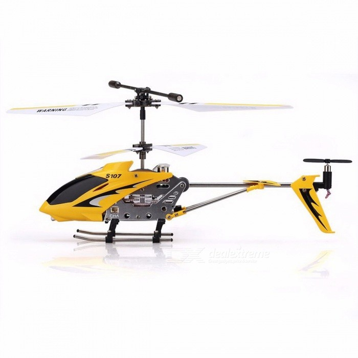 Original Syma S107G Portable Alloy 3CH Remote Control Helicopter Drone with Gyroscope, Best Toy Gift RTF for Kids