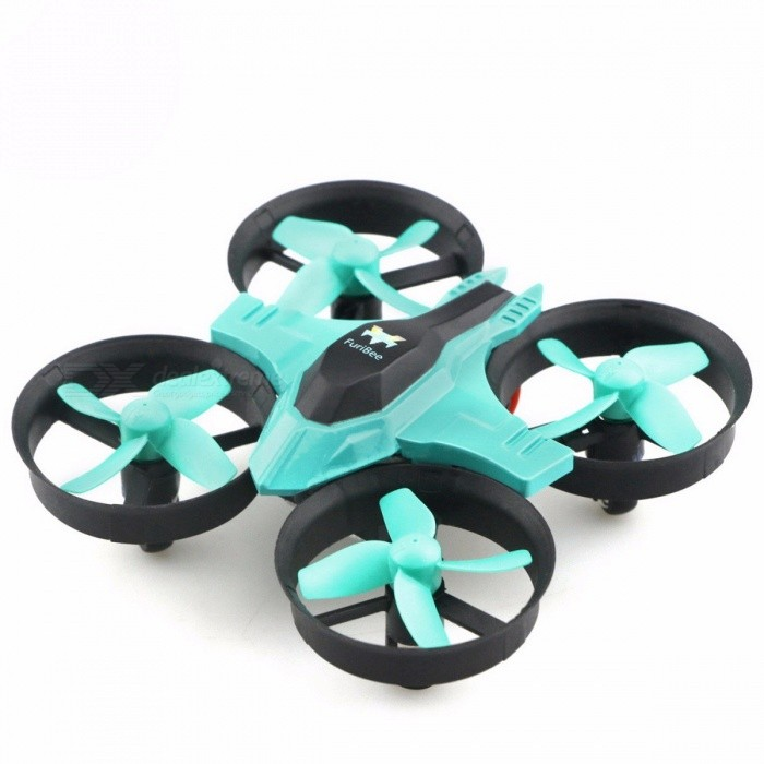 FuriBee F36 Mini UFO RTF Mode2 Quadcopter Drone, 2.4G 4CH 6-Axis Headless Mode Remote Control Toy Nano RC Helicopter for Kids CyanR/C Airplanes&amp;Quadcopters<br>Description<br><br><br><br><br>Type: Helicopter<br><br><br>Features: Remote Control,Flashing<br><br><br><br><br>Aerial Photography: No<br><br><br>State of Assembly: Ready-to-Go<br><br><br><br><br>Age Range: & 14 years old<br><br><br>Package Includes: USB Cable,Original Box,Operating Instructions,Batteries,Remote Controller<br><br><br><br><br>Motor: Brush Motor<br><br><br>Material: Plastic<br><br><br><br><br>Brand Name: NoEnName_Null<br><br><br>Control Channels: 4 Channels<br><br><br><br><br>Controller Mode: MODE2<br><br><br>Power Source: Electric<br><br><br><br><br>Remote Control: Yes<br><br><br><br><br><br><br><br><br><br>Level: Beginner Level <br><br><br>Material: Electronic components, Plastic <br><br><br>Color: Red <br><br><br>Night Flight: Yes <br><br><br>Built-in Gyro: 6 Axis Gyro <br><br><br>Copter Battery: 3.7V 150mAh Battery <br><br><br><br><br>Main Features:<br>2.4GHz control system:<br> Ensures the stronger anti-interference performance and powerful signal<br><br>360-degree flip: <br> The quadcopter will flip forward / backward / leftward / rightward according to your instructions<br><br>6 axis gyro:<br> Provides the best stability during indoor and outdoor flight<br><br>Colorful LED light:<br> The drone will shine in the darkness, shows you the right flying direction and gives you a special look<br><br>Super mini design:<br> Easy to carry, takes it into your pocket and enjoys flight anywhere anytime<br><br>Tumbling skill:<br> It can realize 3D tumbling in four directions with colorful LED lights<br><br>Speed switch:<br> High-low speed modes can be changed by the transmitter<br><br>Longer propeller usage life:<br> 4 safety guard-protected propellers prevent collision and damage <br><br><br><br>&amp;nbsp;<br><br><br>Specifiction: <br><br><br><br>Wheelbase: 70mm <br><br><br>Brand: FuriBee<br>Type: Quadcopter,Toy,Indoor,Outdoor<br>Model: F36<br>Features: Radio Control<br>Motor Type: Brushed Motor<br>Functions: 3D rollover,Headless Mode,One Key Automatic Return,Sideward flight,Speed up,Turn left/right,Up/down,With light<br>Size: Mini<br>Kit Types: RTF<br>Level: Beginner Level <br><br><br>Remote Control: 2.4GHz Wireless Remote Control<br>Channel: 4-Channels<br>Detailed Control Distance: 30m<br>Transmitter Power: 3 x AAA battery(not included)<br>Model Power: 1 x Lithium battery(included) <br><br><br>Battery: 3.7V 150mAh<br>Flying Time: 5~6mins<br>Charging Time (h): 30 - 50 minutes <br><br><br>Package weight:  0.245 kg <br><br><br><br>Product size (L x W x H): 9.50 x 9.50 x 5.00 cm / 3.74 x 3.74 x 1.97 inches<br>Package size (L x W x H): 14.00 x 9.00 x 11.00 cm / 5.51 x 3.54 x 4.33 inches <br><br><br>&amp;nbsp;<br><br><br><br>Package Contents:  <br><br><br>1 x RC Quadcopter,  <br><br><br>1 x Transmitter,  <br><br><br>1 x Copter Battery,&amp;nbsp; <br><br><br>4 x Propeller,  <br><br><br>1 x USB Cable, <br><br><br>1 x Screw Driver,  <br><br><br>1 x English User Manual&amp;nbsp;<br>
