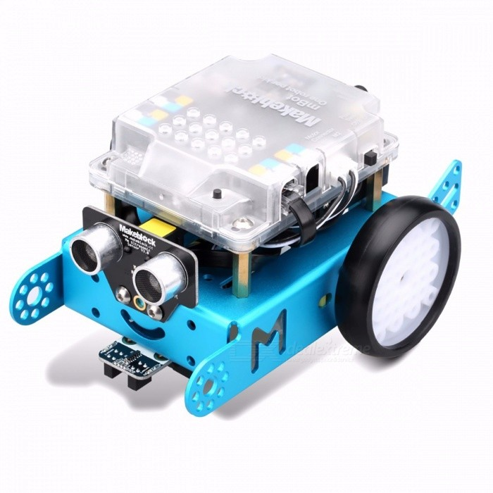 Makeblock mBot Mini Portable Upgraded Version Mbot V1.1 Arduino Robot DIY Car Kit, Kids Educational Toy Robot Upgrated VersionR/C Cars<br>Description<br><br><br><br><br>Gender: Unisex <br><br><br>Commodity Attribute: Assembly <br><br><br><br><br>Scale: 1/60 <br><br><br>Item Type: Model <br><br><br><br><br>Size: 25cm <br><br><br>Condition: In-Stock Items <br><br><br><br><br>Version Type: First Edition <br><br><br>Age Range: & 8 years old <br><br><br><br><br>Completion Degree: Semi-finished Product <br><br><br>Soldier Accessories: Soldier Set <br><br><br><br><br>Remote Control: Yes <br><br><br>By Animation Source: China <br><br><br><br><br>Material: Metal <br><br><br>Theme: Robots <br><br><br><br><br>Brand Name: makeblock <br><br><br>Puppets Type: Model <br><br><br><br><br>Mfg Series Number: Robot <br><br><br><br><br><br><br><br><br><br><br><br><br><br><br>Makeblock mBot Blue (Bluetooth Version)&amp;nbsp;<br><br><br>&amp;nbsp;<br><br><br>New Features in mBlock:&amp;nbsp;<br><br><br><br>Based on Scratch 2.0, developed by MIT Media Lab, nice interface and easy for everyone. <br><br><br>Free &amp;amp; source code: the software is free and support Window &amp;amp; Mac systems. We will also open the source code later.&amp;nbsp; <br><br><br>Supports wireless communication: you can use Bluetooth communicate with mBot. And download the program wirelessly is supported. <br><br><br>Supports<br> standard Arduino boards, like Arduino Uno, Lenardo boards, Makeblock <br>mCore(Based on Arduino Uno) and etc. With open communication protocols <br>and source code, it is easy to add new support for new hardware. <br><br><br>Easy to use: No additional helper app. The easiest way to program your Arduino and robots. <br><br><br>Arduino<br> mode: perfect for every beginner to switch from graphical programming <br>to text-based programming. See more improvements we made for easy <br>teaching and learning from BELOW. <br><br><br><br>&amp;nbsp;<br><br><br>Description:<br><br><br>Makeblock is an open source construction platform to turn ideas into success.<br><br><br>mBot<br> is a low cost, easy-to-run robot kit for kids to get hands-on <br>experience about graphical programming, electronics, robotics.<br> It is an all-in-one solution for robotics learning and designed for STEM education. Cute shape with easy assembly is our goal.<br> mBot contains only about 45 pieces in total, so it is easy to have a <br>sense of achievement for kids to assemble in 10 mins quickly.<br><br><br>&amp;nbsp;<br><br><br>How can mbot helps kids?<br><br><br>&amp;nbsp;<br><br><br>Graphical programming inspired by Scratch 2.0<br><br><br>Since<br> Scratch2.0 is very popular in teachers and students as a graphical <br>programming software, it has almost been proved to be the most <br>easy-to-use graphical programming tool.<br> So based on Scratch 2.0, we <br>develop a new software mBlock to use Scratch-style coding to program <br>Arduino and robots. Please feel free to contact us to download.<br><br><br>&amp;nbsp;<br><br><br>Open source platform, Continuous learning<br><br><br>Arduino<br> is an open-source electronic prototyping platform used by people in the<br> global world to start a project quickly. It has been proved to be very <br>expandable and suitable for beginners.<br> So we designed mBots <br>electronics based on Arduino platform , which is easy for kids to use <br>and extend , and bring their every idea to life.<br> With intuitional <br>color labels and easy-to-use RJ25 connectors, the board could get wired <br>within a few seconds, so students could get more time to focus on <br>creating all kinds of interactive stories and projects.<br><br><br>&amp;nbsp;<br><br><br>Package Contents:<br><br><br><br><br><br>2&amp;nbsp;*&amp;nbsp;Micro&amp;nbsp;TT&amp;nbsp;motor <br><br><br>1&amp;nbsp;*&amp;nbsp;Universal&amp;nbsp;wheel <br><br><br>1&amp;nbsp;*&amp;nbsp;Me&amp;nbsp;Ultrasonic&amp;nbsp;sensor <br><br><br><br><br>1&amp;nbsp;*&amp;nbsp;mCore <br><br><br>15&amp;nbsp;*&amp;nbsp;Socket&amp;nbsp;Cap&amp;nbsp;Screw&amp;nbsp;M4&amp;nbsp;x&amp;nbsp;8 <br><br><br>1&amp;nbsp;*&amp;nbsp;Me&amp;nbsp;Line&amp;nbsp;follower <br><br><br><br><br>2&amp;nbsp;*&amp;nbsp;90T&amp;nbsp;Plastic&amp;nbsp;Wheel <br><br><br>6&amp;nbsp;*&amp;nbsp;Countersunk&amp;nbsp;Screw&amp;nbsp;M3&amp;nbsp;x&amp;nbsp;25 <br><br><br>1&amp;nbsp;*&amp;nbsp;Bluetooth&amp;nbsp;module(dual&amp;nbsp;mode) <br><br><br><br><br>2&amp;nbsp;*&amp;nbsp;Tyre&amp;nbsp;90T&amp;nbsp;B <br><br><br>8&amp;nbsp;*&amp;nbsp;Nut&amp;nbsp;M3 <br><br><br>1*&amp;nbsp;Instruction&amp;nbsp;Book <br><br><br><br><br>2&amp;nbsp;*&amp;nbsp;Velcro <br><br><br>4&amp;nbsp;*&amp;nbsp;Self-drilling&amp;nbsp;Screw&amp;nbsp;M2.2&amp;nbsp;x&amp;nbsp;9.5 <br><br><br>1*&amp;nbsp;Line&amp;nbsp;follower&amp;nbsp;map <br><br><br><br><br>4&amp;nbsp;*&amp;nbsp;Brass&amp;nbsp;stud&amp;nbsp;M4&amp;nbsp;x25 <br><br><br>2&amp;nbsp;*&amp;nbsp;6P6C&amp;nbsp;RJ25&amp;nbsp;cable-20cm <br><br><br>1&amp;nbsp;*&amp;nbsp;Cosplay&amp;nbsp;Card <br><br><br><br><br>1&amp;nbsp;*&amp;nbsp;Chassis <br><br><br>1&amp;nbsp;*&amp;nbsp;USB&amp;nbsp;A-Male&amp;nbsp;to&amp;nbsp;B-Male&amp;nbsp;Cable&amp;nbsp;1m <br><br><br>1&amp;nbsp;*&amp;nbsp;IR&amp;nbsp;Controller <br><br><br><br><br>1&amp;nbsp;*&amp;nbsp;Battery&amp;nbsp;holder&amp;nbsp;4&amp;nbsp;AA <br><br><br><br>1&amp;nbsp;*&amp;nbsp;Screw&amp;nbsp;driver <br><br><br><br><br><br><br>&amp;nbsp;<br><br><br>&amp;nbsp;<br><br><br>Makeblock MBot Upgrated Version Mbot V1.1<br><br><br>&amp;nbsp;<br><br><br>Features:<br><br><br>. Aluminum extrusion, anodized surface<br> . Mbot is an all-in-one solution for robotics learning and designed for STEM education<br> . Most enjoyable and funny tool for learning programming<br> . For children and adult<br> . Promote creativity<br><br><br>&amp;nbsp;<br><br><br>What is mBot?<br><br><br>mBot is an all-in-one solution to enjoy the hands-on experience of programming, electronics,<br> and robotics. Working with mBlock inspired by Scratch 2.0, connecting with computers or smart<br> devices via Bluetooth or 2.4G (by different version), this easy-to-assemble mBot provides<br> infinite possibilities for you to learn STEM (Science, Technology, Engineering, Mathematics).<br><br><br>&amp;nbsp;<br><br><br>Whats New? – Children Safeguard<br><br><br>Compared to the previous verison, mBot V1.1 comes with a casing specially designed for<br> protecting main control board. Meanwhile, the casing is atomized to safeguard childrens<br> eyes from the glare of the onboard LED.<br><br><br>&amp;nbsp;<br><br><br>Whats New? – Better Auxiliary Wheel<br><br><br>The ball omni-directional wheel of previous version is replaced by a mini nylon caster<br> wheel that performs better when moving to any direction and dramatically reduces the little<br> clack sound caused by a steel ball.<br><br><br>&amp;nbsp;<br><br><br>Contracted But Not Simple<br><br><br>Contains 38 assembly parts that can be assembled in 10 minutes and color-labeled RJ25<br> ports for convenient wiring, making sure more time can be spent on programming and creativity.<br><br><br>&amp;nbsp;<br><br><br>Graphical Programming<br><br><br>Drag-and-drop graphical programming software mBlock developed based on Scratch 2.0<br> provides a quick way to learn programming, control the robot, and realize multiple functions from the robot.<br><br><br>&amp;nbsp;<br><br><br>Fun, and Fun<br><br><br>mBot is all about fun and creativity. It comes with various basic pre-assembled options,<br> including obstacle-avoidance car, line-following vehicle, remote control car, and can be<br> used in multiple games like balloon bursting game, soccer playing, sumo, and etc.<br><br><br>&amp;nbsp;<br><br><br>Infinite Extensibility<br><br><br>The mechanical body of the mBot is compatible with Makeblock platform and most of&amp;nbsp;parts,<br> while the electronic parts of it is developed based on the Arduino open source ecosystem.<br> This makes sure that the mBot has infinite extensibility, using any mechanical parts and<br> electronic modules you need to turn it into your dream robot.<br><br><br>&amp;nbsp;<br><br><br>Unique Curriculum System<br><br><br>To help teachers, parents, or children get started easier and faster, you will also find<br> that we provide online manuals and two online courses that will be updated regularly.<br> These online tutorials are developed and maintained by teachers, especially scratch<br> teachers, at home and abroad.<br><br><br>&amp;nbsp;<br><br><br>Note:<br><br><br>mBot V1.1 - STEM Educational Robot Kit come with 1 pc IR remote control as a gift.<br> The default program of mBot has been optimized regarding this change. Users can check whether mBot<br> is functioning using the onboard button.<br><br><br>&amp;nbsp;<br><br><br>Package Size:21.50*18.00*10.2CM<br> Package Weight:1.003KG<br><br><br>&amp;nbsp;<br><br><br>Part List:<br><br><br>1 * Chassis<br> 1 * Route Map<br> 1 * Battery Holder<br> 1 * IR Controller<br> 1 * mCore Case<br> 1 * USB Cable<br> 1 * mCore<br> 1 * Bluetooth<br> 1 * Screw Driver<br> 1 * Me Line Follower<br> 1 * mBot Li Battery Shell<br> 1 * Mini Caster Wheel<br> 1 * Me Ultrasonic Sensor<br> 2 * Motor<br> 2 * Wheel<br> 2 * Velcro<br> 2 * 6P6C RJ25 Cable<br> 4 * Screw M2.2*9<br> 4 * Brass Stud M4*25<br> 6 * Screw M3*25<br> 8 * M3 Nut<br> 15 * Screw M4*8<br>