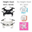 Professional Mini Micro Pocket RC Quadcopter Drone, Remote Control Small Plane Fidget Spinner Kit with HD Wi-Fi Camera Black height camera