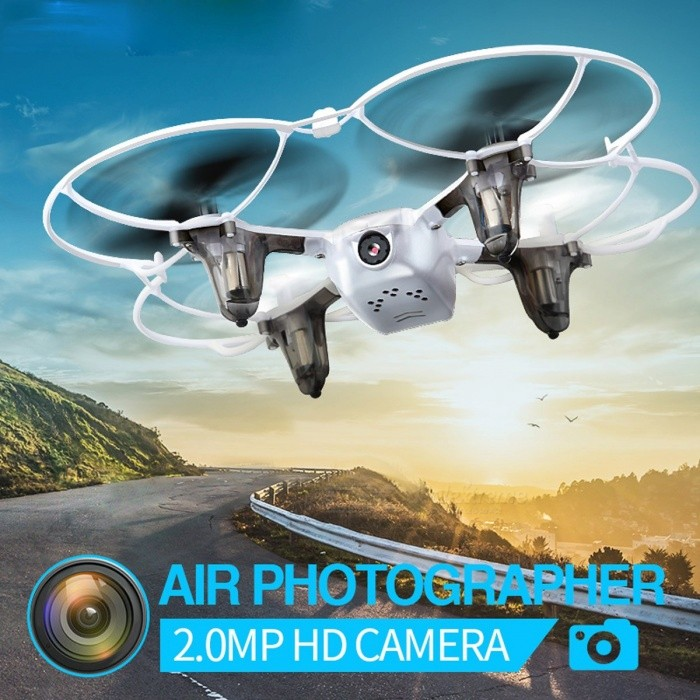Syma X11C Mini HD 4CH 2.4GHz RC Helicopter Drone Aircraft Quadcopter with 2.0MP Camera, Brushless Motor for Children X11C White