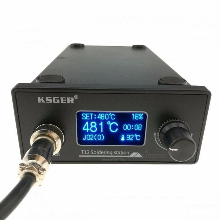 KSGER T12 Soldering Iron Station STM32 OLED DIY Kit, Solder Electric Tool Welding Iron Tips, Temperature Controller Handle Case blackSoldering Supplies<br>Description<br><br><br><br><br>Brand Name: KSGER<br><br><br><br><br><br><br><br><br><br><br><br><br>DIY requirements and risks: <br><br><br>&amp;nbsp;<br><br><br>DIY<br> technical requirements, the soldering station does not provide the <br>circuit diagram and schematic diagram, after purchase contact to obtain <br>the installation wiring diagram, therefore, the proposed rookie, bird, <br>bird please consider, I can only provide welding related guidance, all <br>devices , Once welded, will not be returned, DIY risk Participants to <br>assess their own ability and risk, problems and risks themselves. <br><br><br>&amp;nbsp;<br><br><br>OLED digital soldering station T12 simple instructions <br><br><br>&amp;nbsp;<br><br><br>welding station main functions and features: <br><br><br>&amp;nbsp;<br><br><br>&amp;nbsp; &amp;nbsp;1.temperature range of 150 ~ 480C. <br><br><br>&amp;nbsp;<br><br><br>&amp;nbsp; &amp;nbsp;2.automatic thermocouple cold junction temperature compensation range -9-99cC(required calibrated). <br><br><br>&amp;nbsp;<br><br><br>&amp;nbsp; &amp;nbsp;3.PID temperature control, temperature stability ± 2C(no load). <br><br><br>&amp;nbsp;<br><br><br>&amp;nbsp; &amp;nbsp;4.save 5 sets of temperature. <br><br><br>&amp;nbsp;<br><br><br>&amp;nbsp;<br> &amp;nbsp;5.can be saved separately for each head temperature calibrated <br>parameters, T12 supports all types of leader, and 6 custom head, head <br>shield is not used (in the menu tip management enabled in your favorite <br>leader). <br><br><br>&amp;nbsp;<br><br><br>&amp;nbsp; &amp;nbsp;6.Auto Standby (Time 1-60 minutes can be set). <br><br><br>&amp;nbsp;<br><br><br>&amp;nbsp; &amp;nbsp;7.Auto Sleep (soft-off) (Time 1-60 minutes can be set).<br>