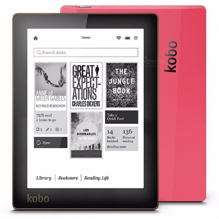 Kobo N514 E-book Reader E-ink 6 Inches 1024x758 Resolution Built-in Front Light eBook Reader WiFi 4GB Memory - Black