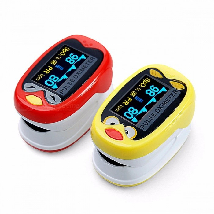 Yongrow Digital Medical Infant Fingertip Pulse Oximeter, Neonatal Pediatric Finger Blood Oxygen Saturation SPO2 Monitor Yellow
