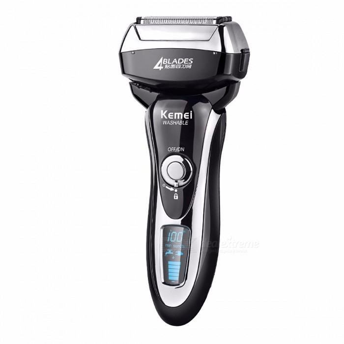 Kemei 5568 Electric Shaver LCD Display Quick Charge Whole Body Washable Reciprocating Electric Razor Four Blade Shaving For Men