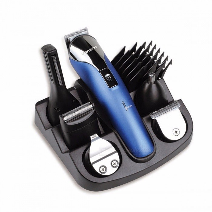 PRITECH Professional 6-In-1 Hair Trimmer Clipper Shaver Set, Electric Shaver Beard Trimmer Hair Cutting Machine