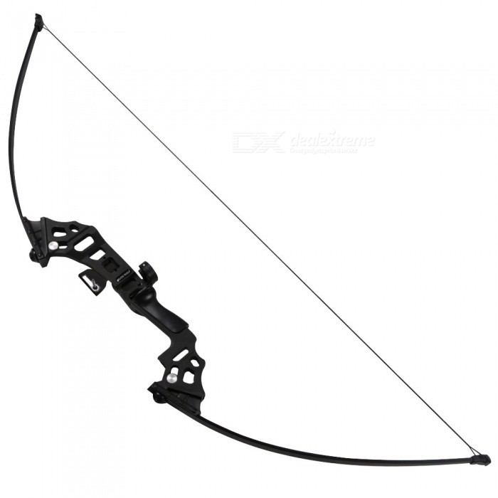 High Quality Fishing Bow Aluminum Recurve Long Bow Practice Straight Bow For Starter 40lbs Draw Weight
