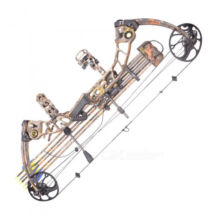 High Quality T1 Camo Hunting Compound Bow Archery Set Adjustable 15-70lbs Draw Weight, 19-30