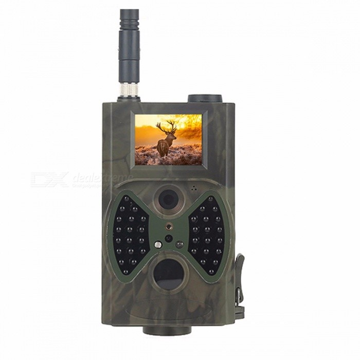 Skatolly HC300M Full HD 1080P 12MP Hunting Trail Camera Video Night Vision MMS GPRS Scouting Infrared Game Hunter Cam picture colorDescription<br><br><br><br><br>Brand Name: Skatolly<br><br><br><br><br><br><br><br> <br>  <br><br><br>Image Sensor: 12Mega Pixels Color CMOS <br><br><br>Lens: F=3.0mm, FOV(Field of View)=60° <br><br><br>Video Resolution: 1080P/720P/VGA <br><br><br>IR flash: 65feet/20m <br><br><br> Trigger Time: 1.1s <br><br><br>Security Authentication: FCC, CE, RoHS <br><br><br><br><br>This<br> camera, a digital trail with MMS function, is a surveillance camera <br>working automatically. It can be triggered at once by any movement of <br>human (or animals) in a certain region of interested (ROI) monitored by a<br> high sensitive Passive Infrared (PIR) motion sensor, and then <br>automatically captures high quality pictures (up to 12M pixels) or <br>records 1080p HD video clips (WVGA or QVGA).<br><br><br>At<br> sunrise the unit begins to take color photos and video until there is <br>insufficient light (dusk) when it begins to take infrared (monochrome) <br>photos and video.<br><br><br>It<br> is easy to use, there is a 2.0 inch colorful LCD display on camera, and<br> it supports MMS/SMTP/SMS/E-mail via GPRS Network. It is resistant <br>against water and snow for outside uses.<br><br><br>2G&amp;nbsp;GSM(850/900/1800/1900MHz) <br><br><br>Support language: English / Spanish / Russian / Italian / French / German / Danish / Dutch / Polish / Portuguese / Swedish / Finnish <br><br><br><br><br><br><br><br>Package Included:&amp;nbsp; &amp;nbsp; &amp;nbsp; &amp;nbsp; &amp;nbsp; &amp;nbsp;&amp;nbsp; <br><br><br><br>1 X Digital Camera<br><br><br>1 X Wireless Remote Control&amp;nbsp;<br><br><br>1 X Antenna<br><br><br>1 X USB Cable<br><br><br>1 X TV Cable<br><br><br>1 X Belt<br><br><br>1 X CD Manual<br><br><br>Note:&amp;nbsp;The&amp;nbsp;TF card is&amp;nbsp;not included.<br>