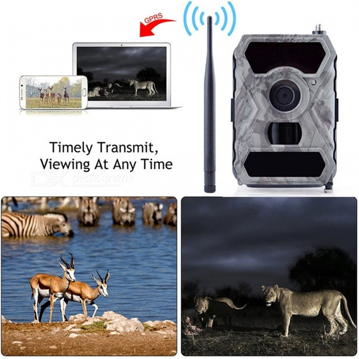 1080P HD Wireless Trail Hunting Camera Commander 3G AT-T with Viewing Screen SIM Card Cellular 12MP 56-LED