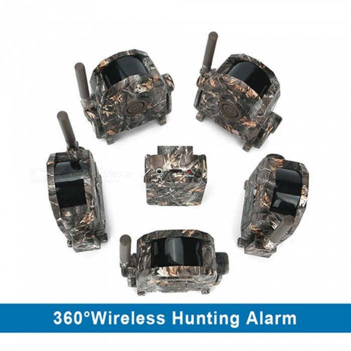 SY-007 360 Degrees Wireless Trail Hunting Security Alarm Motion Security PIR Detector Receiver 100 Meters Transmission Alarm 3DetectorDescription<br><br><br><br><br>Brand Name: Bestguarder<br><br><br><br><br><br><br><br><br><br>Power: 3*AAA battery (Not included) <br><br><br>Receiver Battery Life: Upto 100 hours <br><br><br>Detector Battery Life: Up to 400 hours <br><br><br>Includes: 1 Receiver+5x Receiver <br><br><br>Wireless Radio Frequency: 433MHz <br><br><br>Detector Size: 140x100x40m <br><br><br>Alarm Sounds: 15s, volume adjustable <br><br><br>Vibration: 15s <br><br><br><br>This<br> alarm system&amp;nbsp;is primarily used by hunter to inform them of the approach<br> of any animals, it is also used in the field of residential and <br>commercial surveillance. <br><br><br>The hunting alarm is a wireless receiver and sensor specially designed for the hunting of wild game, to get an early alert <br>when doing stand-hunting or driven hunt. The sensor is placed at for <br>example a carrion place or trail and adjusted so it alerts for incoming <br>game. The sensor detects a distance of 12m with a radius of 90degrees. <br>The sensor can communicate to the receiver within a distance of up to 100m in free terrain (obstacles and battery strength can limit the scope). <br>The receiver can be sent in silent mode with the earphone(not included)<br><br><br>&amp;nbsp;<br><br><br>How to connect the receiver and detector&amp;nbsp;<br>When the receiver and detectors are powered on, the detectors will be <br>connected to the receiver wirelessly and automatically, its <br>corresponding signal indicator(1,2,3,4,5) will blink for 15 seconds with<br> sound and vibration, then keep in green color.The maximum connecting <br>distance is up to 100M in anopen environment.<br><br><br>How to alarm&amp;nbsp;<br><br><br>After<br> the receiver and detectors are powered on and connected successfully, <br>when the detector is triggered byanymotion,its corresponding <br>signalindicator on the recei