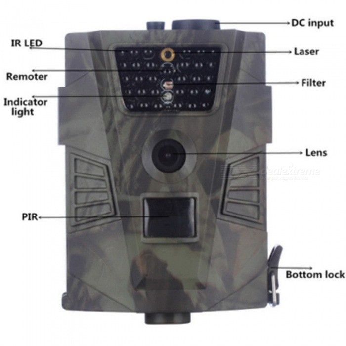 HT001 Outdoor Wildlife Hunting Camera Night Version Trail Ordinary Cameras Photo Video Traps Without LCD Wildlife Cameras 12MP