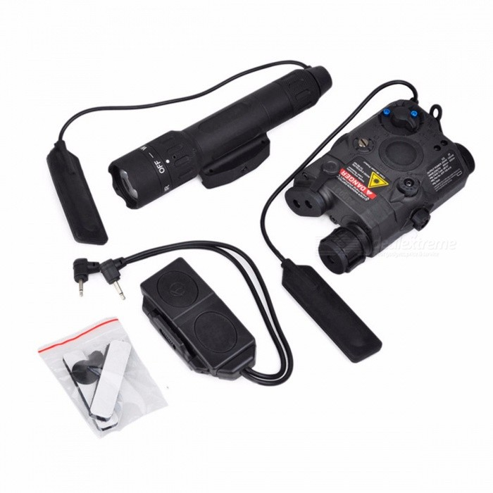 Element Airsoft EX418 Tactical Light Combo Includes PEQ 15 WMX-200 Flashlight Double Remote Control Switch Fits 20mm RIS Rail
