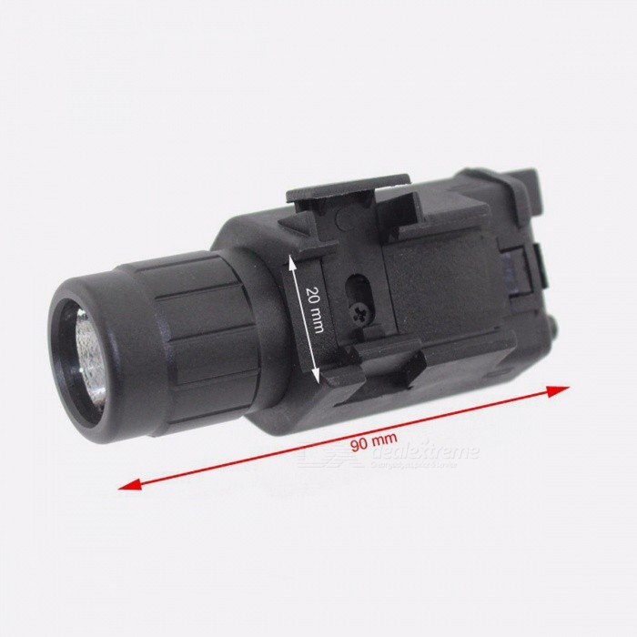 High Quality Tactical 200 Lumen Combo 2-in-1 Tactical LED Flashlight + Red Laser Sight Combo for Pistol